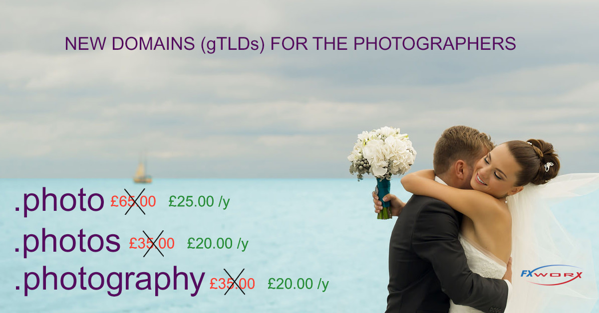 NEW DOMAINS (gTLDs) FOR THE PHOTOGRAPHERS